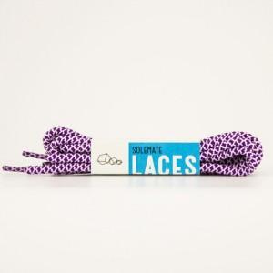 Шнурки Solemate Laces Фиолетово-белые