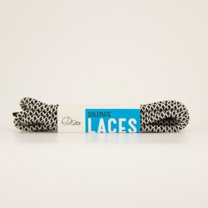 Шнурки Solemate Laces Черно-белые