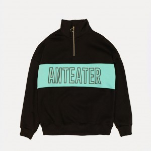 Толстовка Anteater Zip-Crewneck Black/Mint