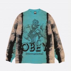 Лонгслив Obey Holy Blue (167382092)